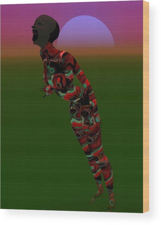 Moonrise Wood Print featuring the digital art Scream by Amanji jill Duke
