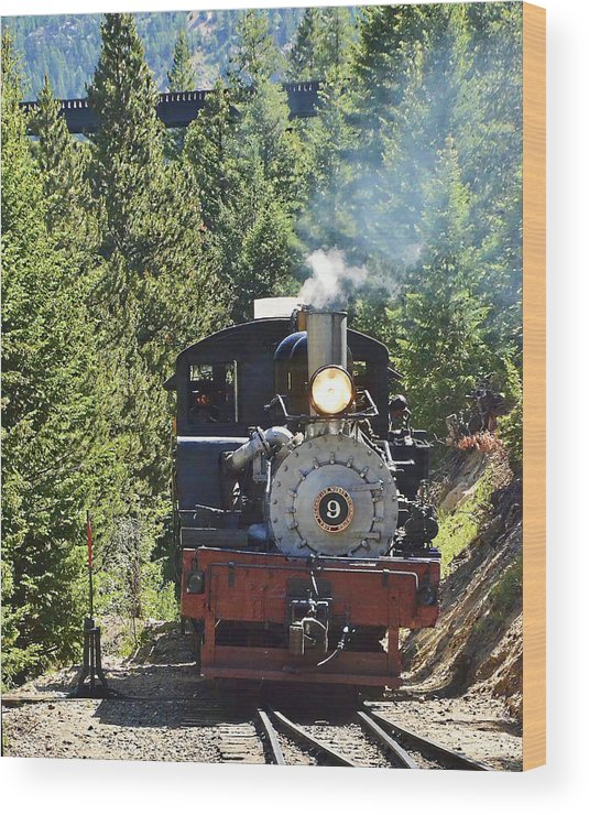 Steam Train Wood Print featuring the photograph Shay On The Loop by Ken Smith