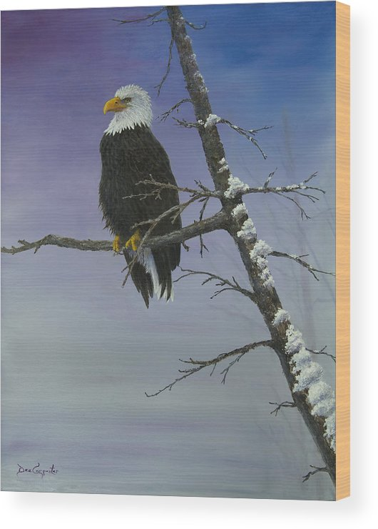 America Wood Print featuring the painting Symbol Of Freedom by Dee Carpenter