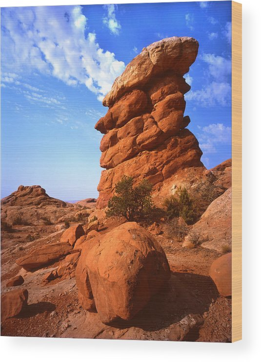 Cap Rock Wood Print featuring the photograph The Chimney by Ray Mathis