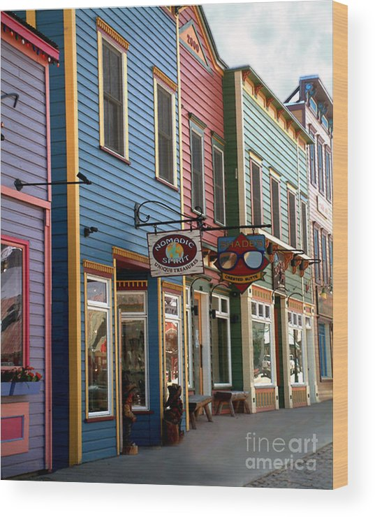 Landscape Wood Print featuring the photograph The Shops In Crested Butte by RC DeWinter
