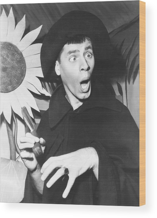 1950s Portraits Wood Print featuring the photograph The Stooge, Jerry Lewis, 1952 by Everett