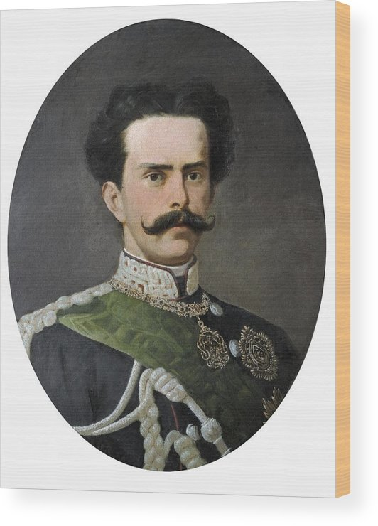 Vertical Wood Print featuring the photograph Umberto I Of Italy 1844-1900. King by Everett