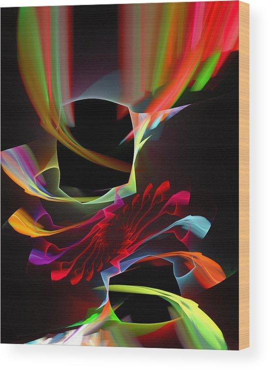 Malakhova Wood Print featuring the digital art Unmanaged Complexity by Anastasiya Malakhova