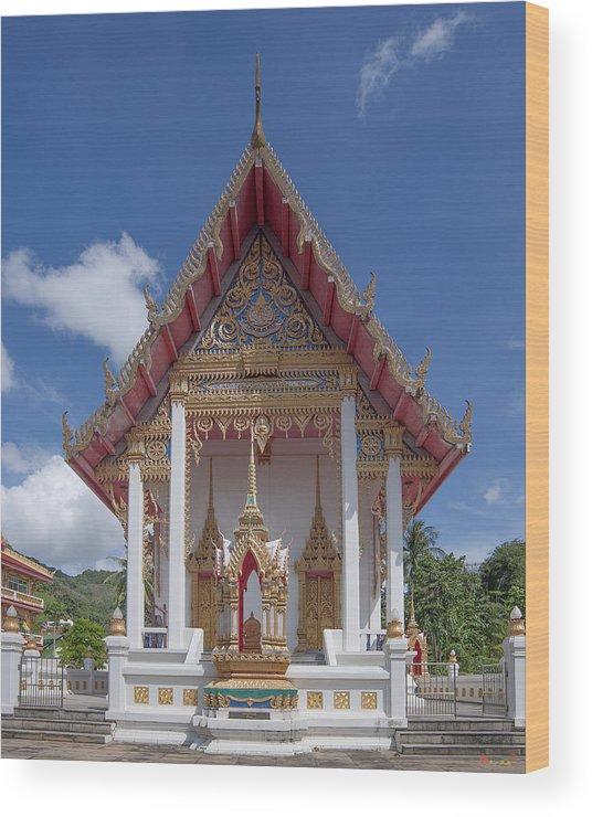 Scenic Wood Print featuring the photograph Wat Suwan Khiri Khet Ubosot Dthp269 by Gerry Gantt