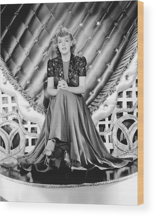 1930s Movies Wood Print featuring the photograph Youre A Sweetheart, Alice Faye, 1937 by Everett