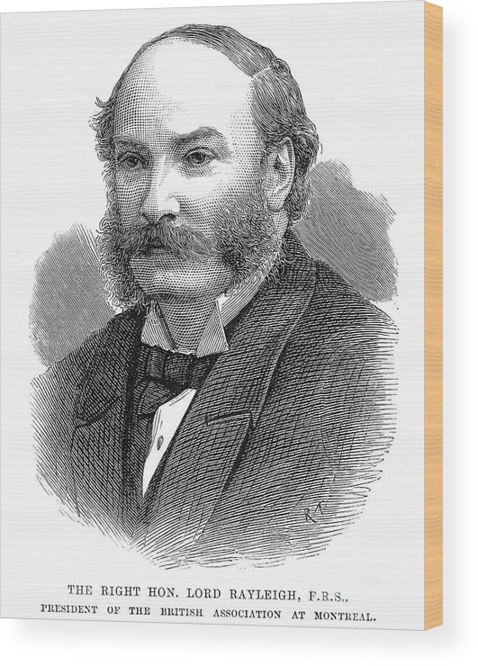 19th Century Wood Print featuring the photograph 3rd Baron Rayleigh by Granger