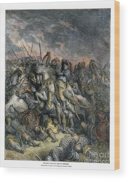 1190s Wood Print featuring the photograph Third Crusade, 1191 by Granger