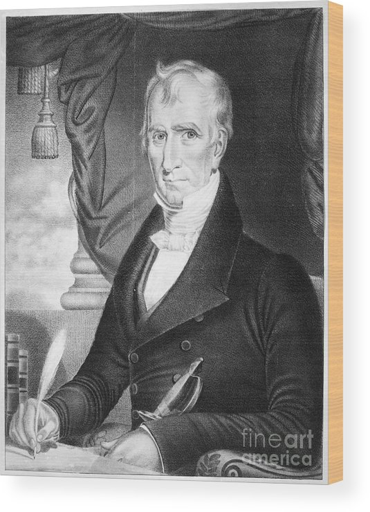 1841 Wood Print featuring the photograph William Henry Harrison by Granger