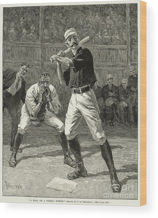 1888 Wood Print featuring the photograph Baseball, 1888 by Granger