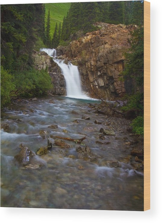 Altitude Wood Print featuring the photograph Crystal River Waterfall by Crystal Garner