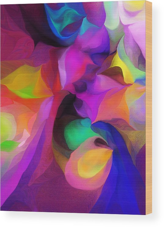 Fine Art Wood Print featuring the digital art Abstract 041412 by David Lane