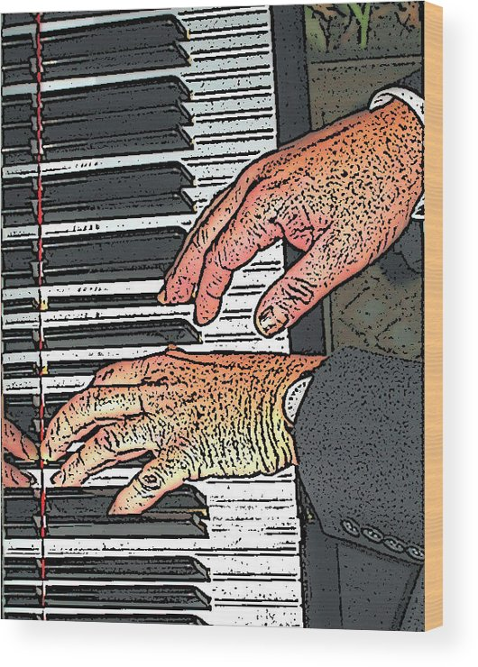Piano Wood Print featuring the photograph Docs Fingers by Rianna Stackhouse