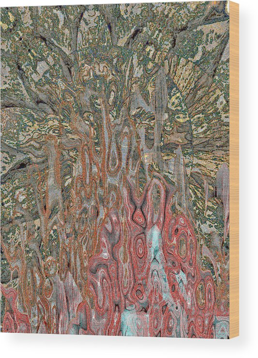 Mandala Wood Print featuring the digital art Eclipse 16 by Ron DeMattio