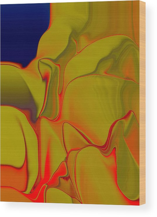 Gold Wood Print featuring the digital art Folds 01 by Ron DeMattio