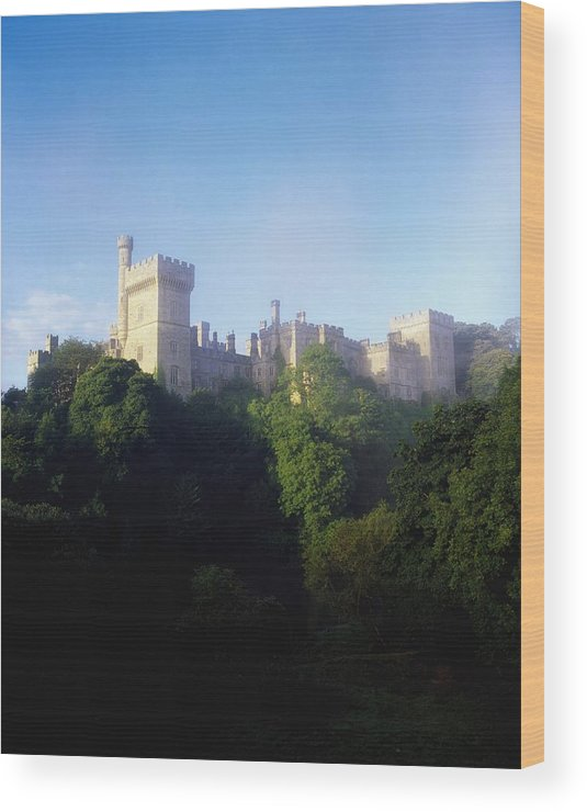 Blue Sky Wood Print featuring the photograph Lismore Castle, Co Waterford, Ireland by The Irish Image Collection