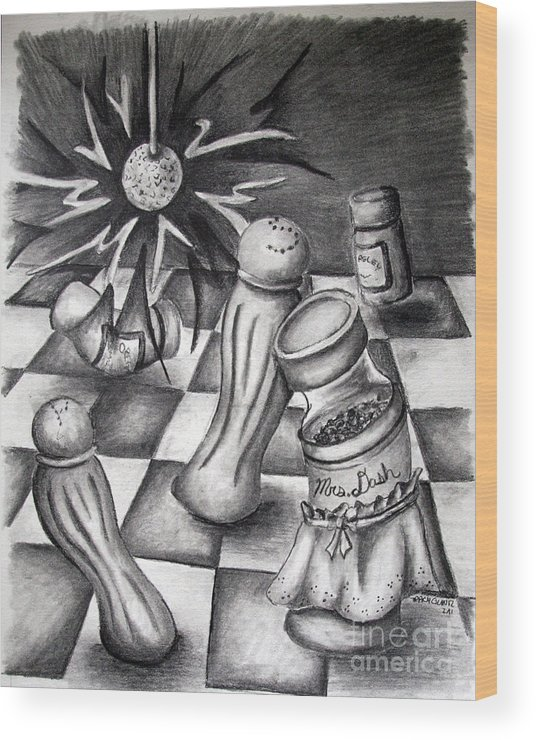 Wood Print featuring the drawing Spice Of Life by Tracy Glantz