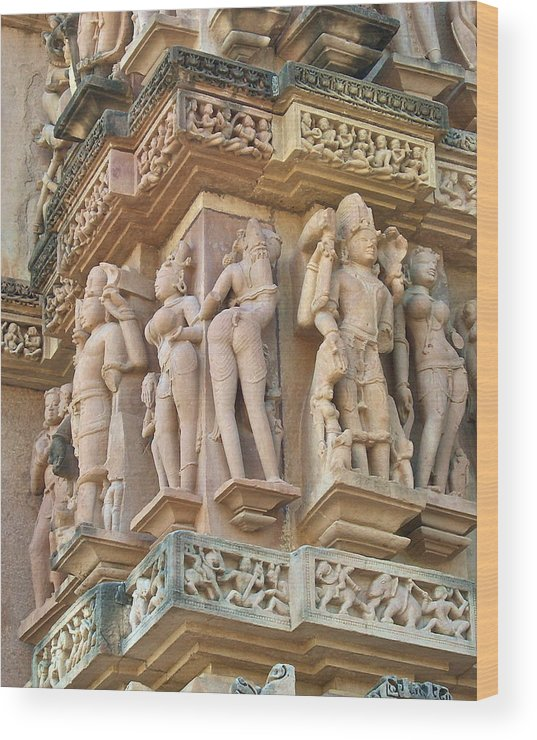 Erotic Scenery Nudity Wood Print featuring the photograph Kama Sutra Temple by Dorota Nowak