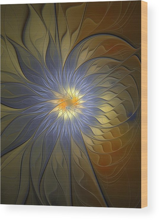Digital Art Wood Print featuring the digital art Something Blue by Amanda Moore
