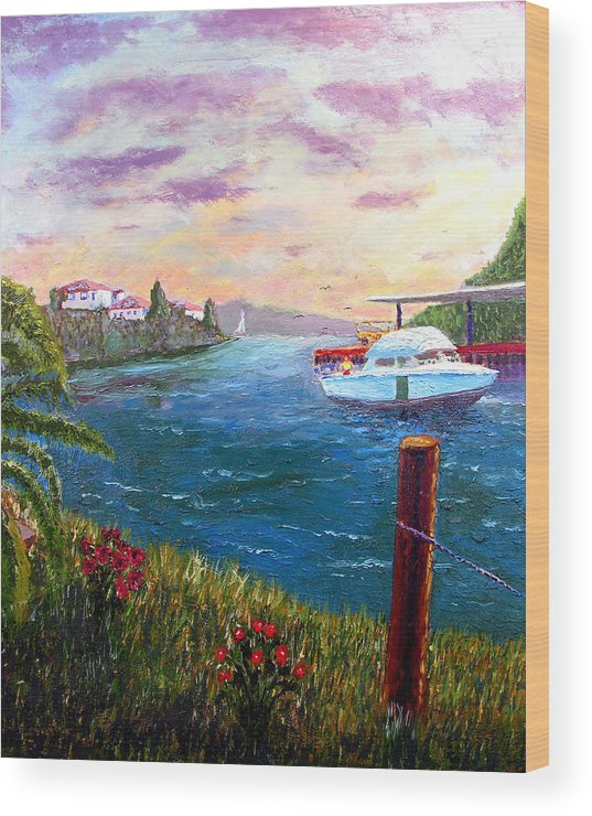 Harbor Wood Print featuring the painting The Harbor by Stan Hamilton