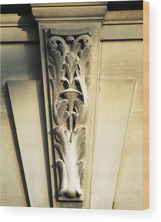 Architecture Embellishments Wood Print featuring the photograph Embellishment Series by Ginger Geftakys