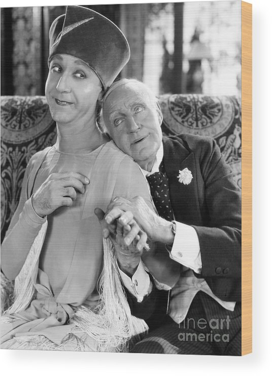 -couples- Wood Print featuring the photograph Silent Film Still: Couples by Granger