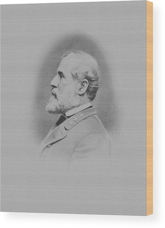 General Lee Wood Print featuring the mixed media General Robert E Lee by War Is Hell Store