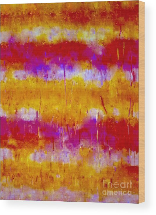 Abstract-painting-mixed-media Wood Print featuring the painting A Material Girl 1 Series  by Catalina Walker