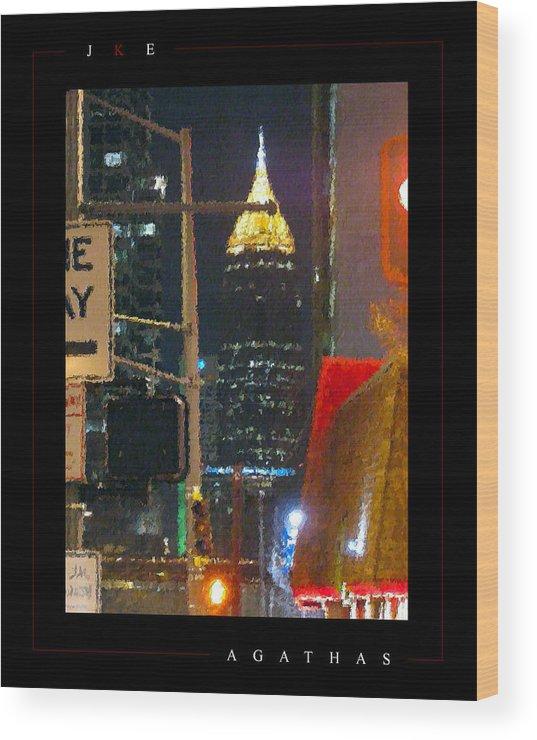Atlanta Wood Print featuring the photograph Agathas by Jonathan Ellis Keys