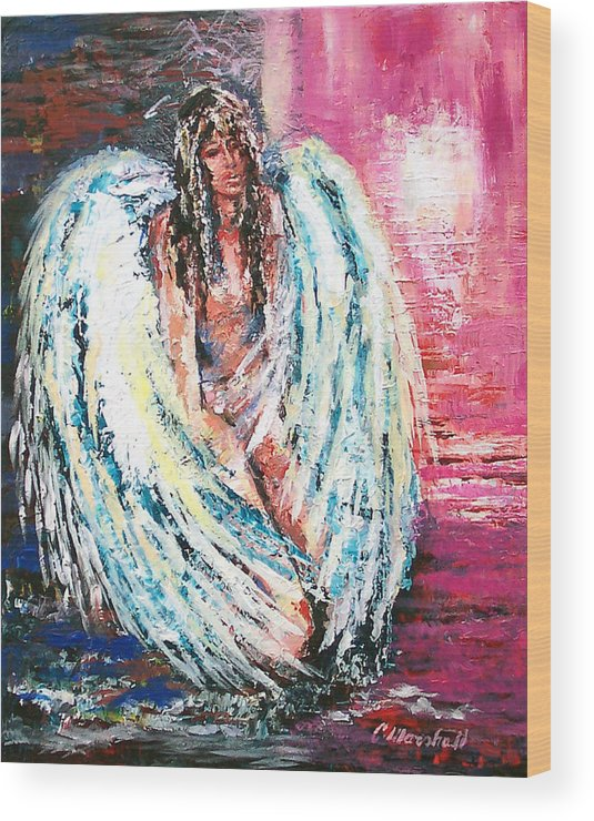 Art Wood Print featuring the print Angel Of Dreams by Claude Marshall