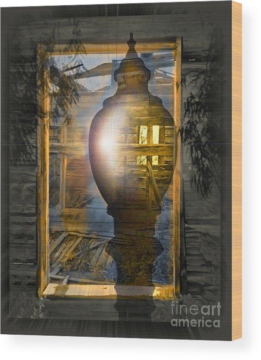 Ghost Wood Print featuring the digital art Apparition by Chuck Brittenham