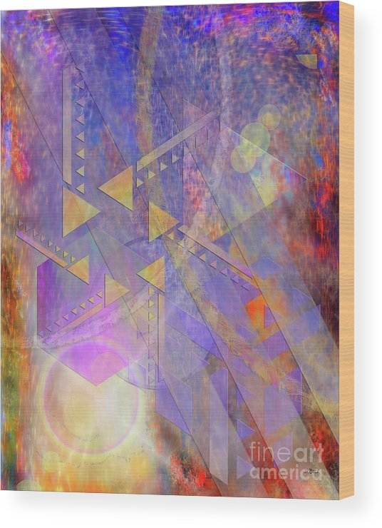 Aurora Aperture Wood Print featuring the digital art Aurora Aperture by John Beck