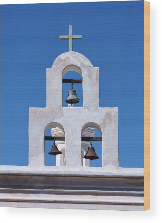 Church Wood Print featuring the photograph Bells - San Xavier Del Bac - Arizona by Nikolyn McDonald