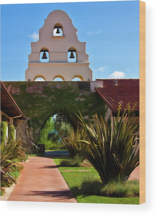Winery Wood Print featuring the digital art Bridlewood Winery by Patricia Stalter