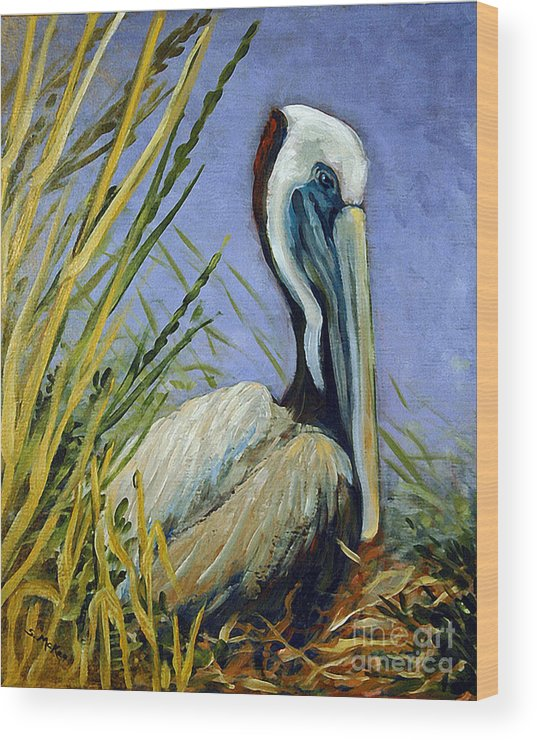 Acrylic Wood Print featuring the painting Brownie Nesting by Suzanne McKee