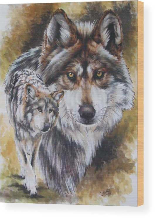 Wildlife Wood Print featuring the mixed media Callidity by Barbara Keith
