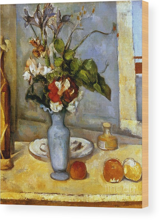 19th Century Wood Print featuring the photograph Cezanne: Blue Vase, 1885-87 by Granger