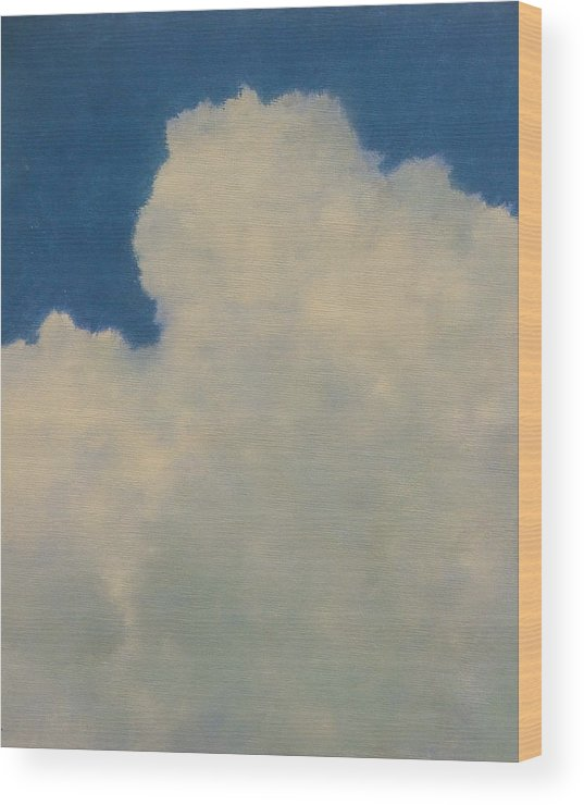 Nature Wood Print featuring the painting Clouds Illusions by Gary Kaemmer