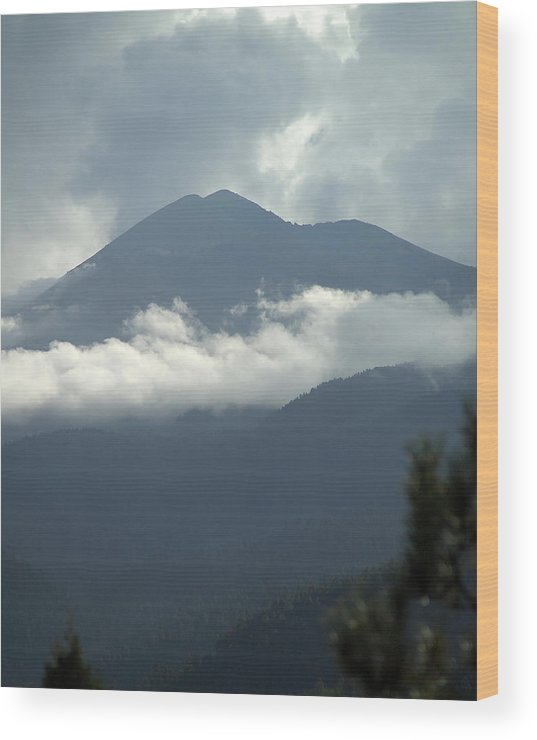 Clouds Wood Print featuring the photograph Clouds Of Sierra by Harry Noble