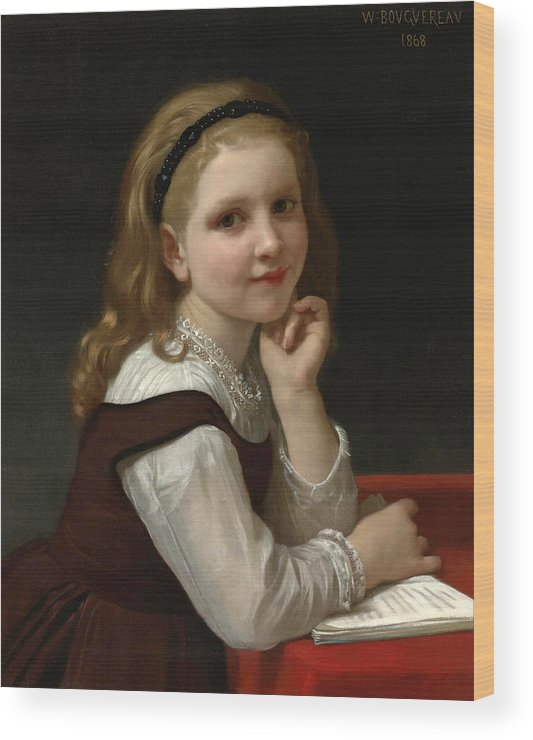 William-adolphe Bouguereau Wood Print featuring the painting Distraction by William-Adolphe Bouguereau