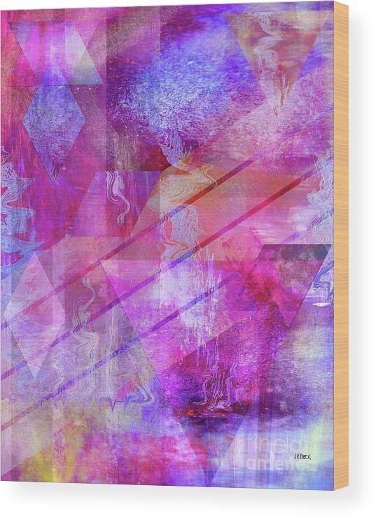 Dragon's Kiss Wood Print featuring the digital art Dragon's Kiss by John Beck