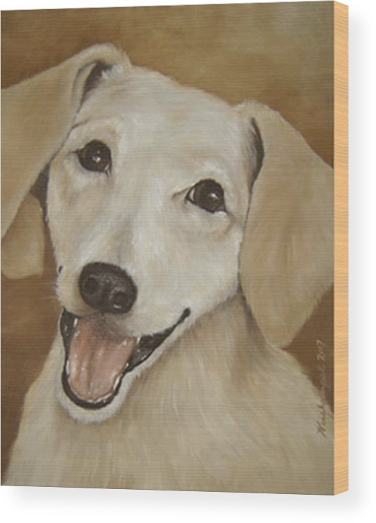 Oils Wood Print featuring the painting Dusty by Winifred Ann Weishampel