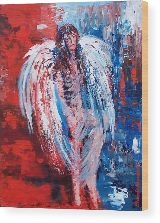 Art Wood Print featuring the painting Earth Angel by Claude Marshall