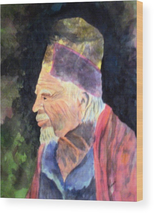 Elder Wood Print featuring the painting Elder by Susan Kubes
