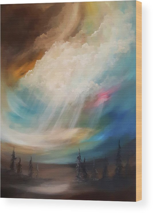 Enlighten Wood Print featuring the painting Enlightenment by Jacquie Potvin Boucher