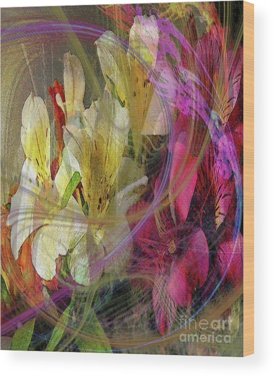 Floral Inspiration Wood Print featuring the digital art Floral Inspiration by John Beck