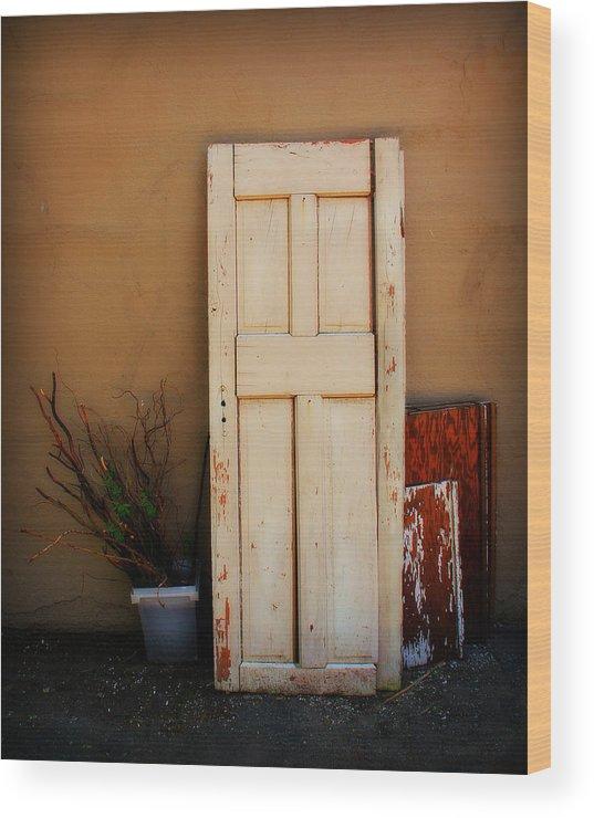 Door Wood Print featuring the photograph Forgotten Door by Perry Webster