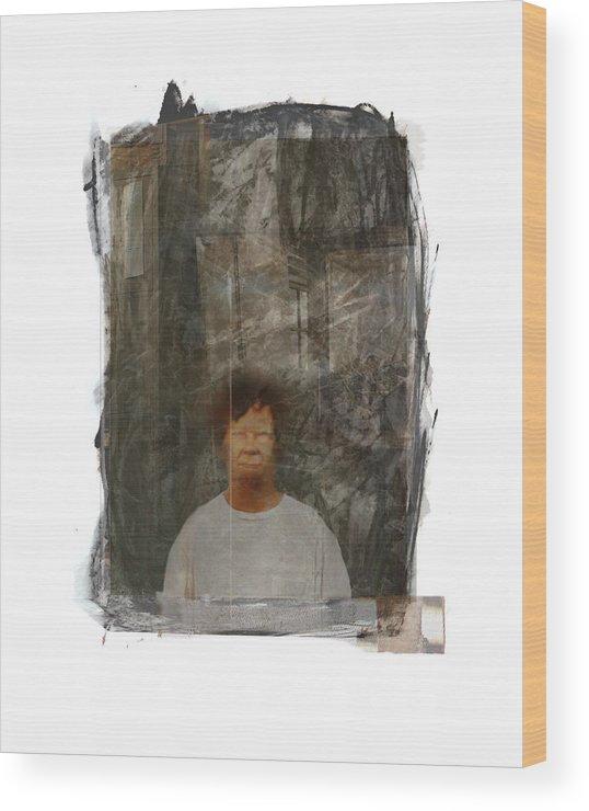 Portrait Wood Print featuring the digital art Frank by Nuff