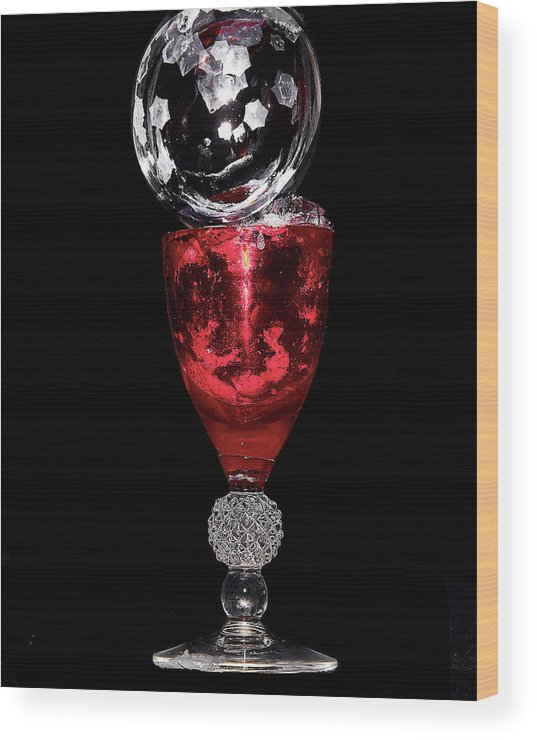 Red Wood Print featuring the photograph Freezing Bubble by David Hayden