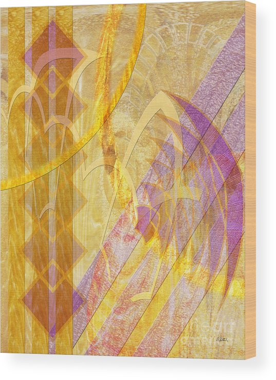 Gold Fusion Wood Print featuring the digital art Gold Fusion by John Beck
